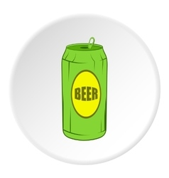 Aluminum beer icon cartoon style vector