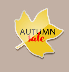 Autumn sale banner with yellow fall tulip tree vector