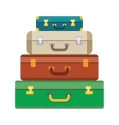 Baggage luggage suitcases on background vector