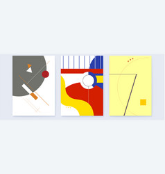 banners with abstract graphic compositions set of vector image