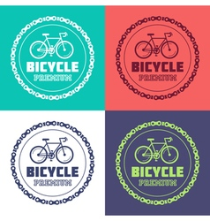 bicycle color logos vector image