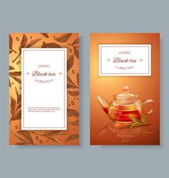 Black tea banners vector