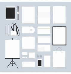 Blank corporate style vector image vector image