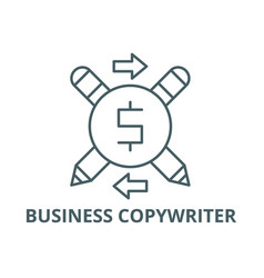 Business copywriter line icon business vector