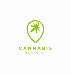cannabis map point locator logo icon template vector image