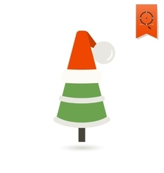 Christmas Tree in a Hat vector image