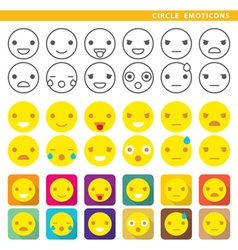 Circle emoticons vector
