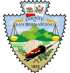 Coat of arms of san bernardino county in vector
