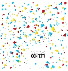 Colorful Confetti on White background Christmas vector image