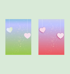 colorful set of greeting background banner vector image