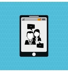 Communication design bubble icon Flat vector image