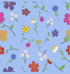 Cyan floral seamless vector