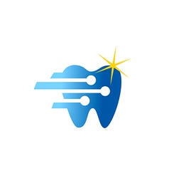 Dentist technology shine logo vector