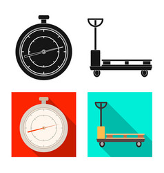 Design of goods and cargo logo collection vector