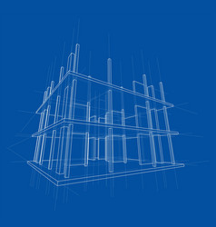 Drawing a house under construction vector
