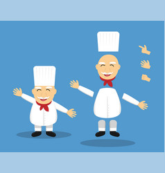 editable cartoon senior chef for animation vector image