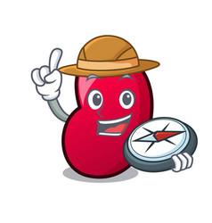 explorer jelly bean mascot cartoon vector image