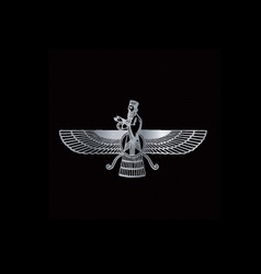 Faravahar- Symbol of Zoroastrianism Religion vector
