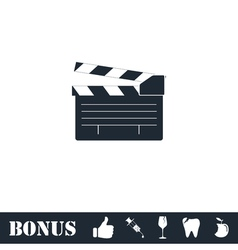 Film flap icon flat vector