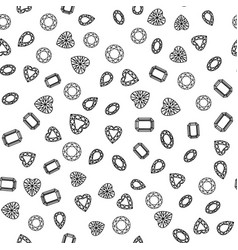 geometric seamless pattern with linear diamonds vector image