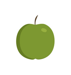 Green apple icon in flat design vector