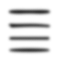 grunge halftone brush strokes on white vector image