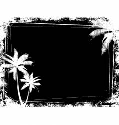 grunge palm tree background vector image vector image