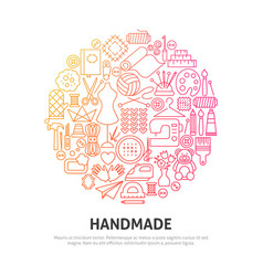 handmade circle concept vector image