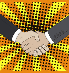 handshake men vector image