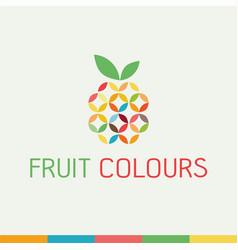 healthy organic eco vegetarian food logo vector image