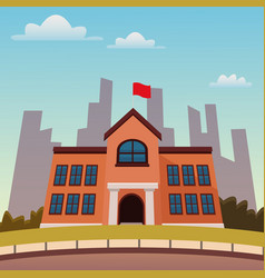 High school building vector