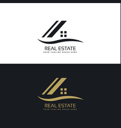 house logo design concept vector image