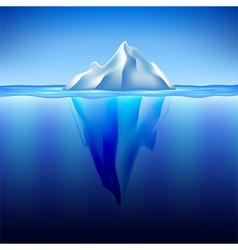 Iceberg in water background vector