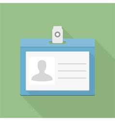 Identification card icon vector
