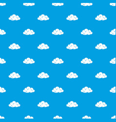 information cloud pattern seamless blue vector image