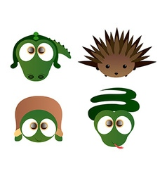 Isolated cute animals vector