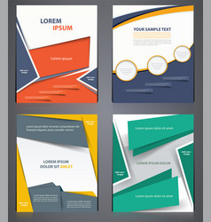 layout business brochures flyer design template vector image