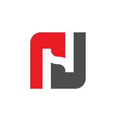 logo n initial letter n logo vector image
