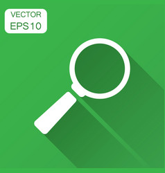 magnifying glass icon in flat style search vector image
