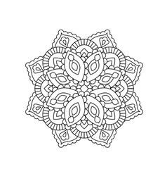 mandala in ethnic oriental style decorative vector image