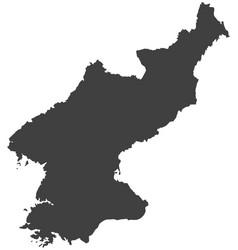 Map of north korea vector