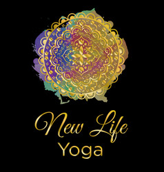 new life yoga vector image