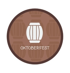 Oktoberfest vintage poster or greeting card and vector image