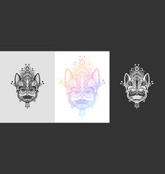 original tribal ornamental tattoo design cute vector image
