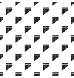 Pan flute pattern simple style vector