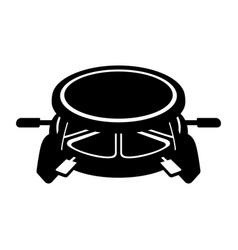 raclette set vector image