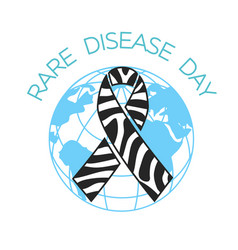 Rare disease day linear style vector