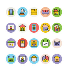 Real Estate Icons 1 vector image