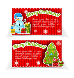 red bright holiday banner set vector image