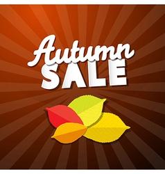 Retro Autumn Sale Background vector image